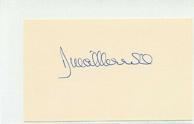 Movies Sunny Herb Ritts Signed Autographed 3x5 Index Card Beckett Certified Slabbed
