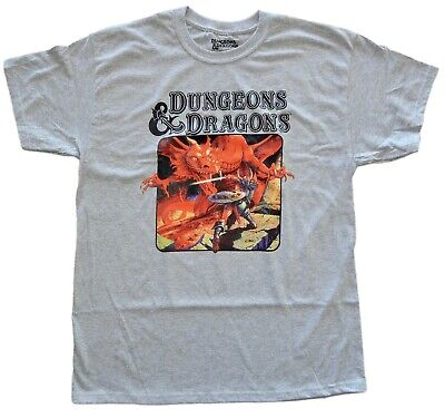 Dungeons and Dragons D&D Book Cover Mens T-Shirt Adult Tee