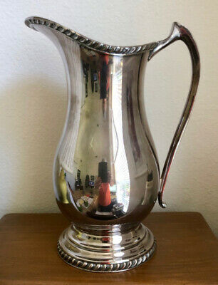"""Vintage Sheffield Silver Plate Water Pitcher, 10.25"""""""