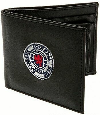 Glasgow Rangers Fc Embroidered Crest Leather Wallet Football Club Purse Money