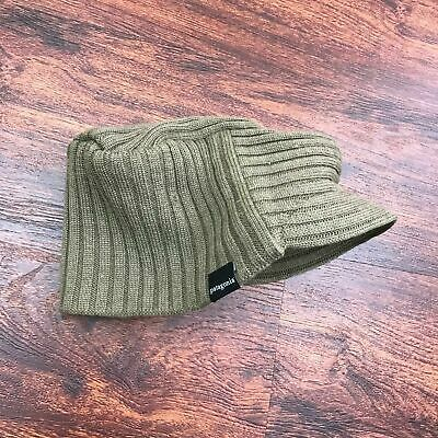 a49117b0 PATAGONIA Unisex Beige Knit Ribbed Beret Hat Wool Blend Cap One Size