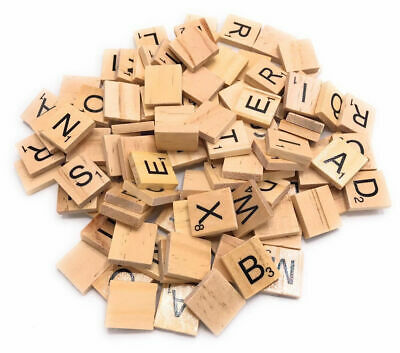 Wooden Scrabble Tiles Individual letters Alphabet Game For Crafts UK Seller