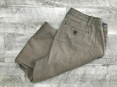 EDDIE BAUER Legend Wash Mid Rise Brown Khaki Casual Capri Pants Women's Size 4