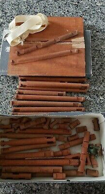 RARE Vintage 1920's LINCOLN Logs Toy John Lloyd Wright Antique roof