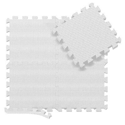 White 31 X 31 cm Eva Foam Mat Soft Floor Tiles Interlocking Play Kids Baby Mats