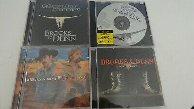 Lot of 4 Brooks & Dunn Music CD's Greatest Hits Hillbilly Deluxe Cowboy Town Red