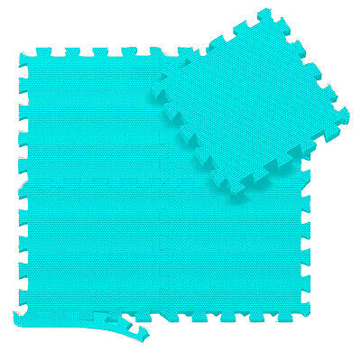 Turquoise 31 X 31 cm Eva Foam Mat Floor Tiles Interlocking Play Kids Baby Mats
