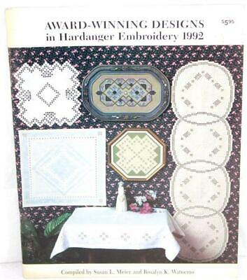 Award Winning Design in Hardanger Embroidery 1992 by Meier & Watnemo SC Book