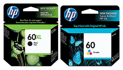 April 2020 HP 60XL Tri-Color Ink CC644WN New Genuine ** SHIPS OVERBOXED ** Date