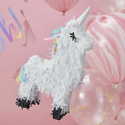 Mini UNICORN PINATA Birthday Party Make a Wish Game Activity Girls Fun Pinatas