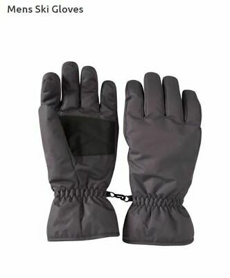 NEW Mountain Warehouse Dark Grey Mens Snowproof Ski Gloves Large L RRP £22.99