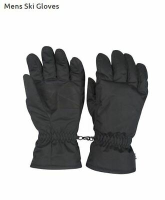 NEW Mountain Warehouse Black Mens Snowproof Ski Gloves Large L RRP £22.99