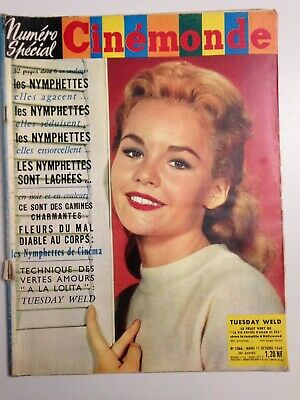 Cinemonde N°1366 1960 Couv Tuesday Weld