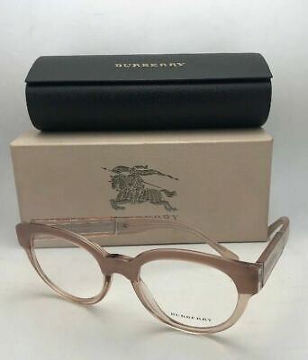 dcacca23f7b0 Brand New BURBERRY Eyeglasses B 2209 3560 53-20 two-tone Pink Transparent  Frames