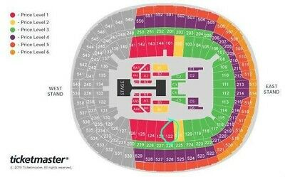BTS Tickets X2 Great Seats £180 each
