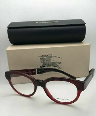 179cc8ea7908 New BURBERRY Eyeglasses B 2209 3591 53-20 140 Red Burgundy Transparent  Frames