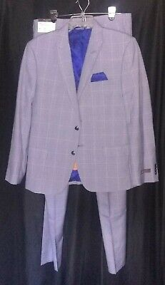 Ben Sherman Mens Newham Blue and White Suit S42 W36