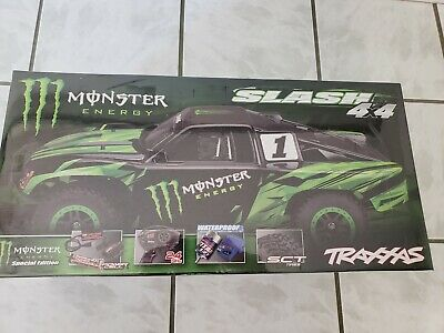 Traxxas Slash Monster Energy 4x4 Limited Edition Truck RTR w Battery/Charger NEW