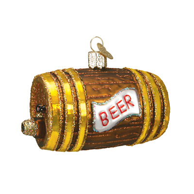 """Beer Keg"" (32064)X Old World Christmas Glass Ornament w/OWC Box"