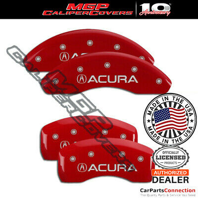 MGP Caliper Brake Cover Red 39012SACURD Front Rear For Acura ILX 2014-2015