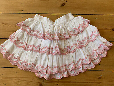 TU Girls white with Pink Embroidery Skirt 2-3 Yrs summer