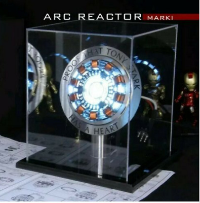 Iron Man 1:1 Arc Reactor Proof Tony Stark Has A Heart Mk1 Led Light Display Diy