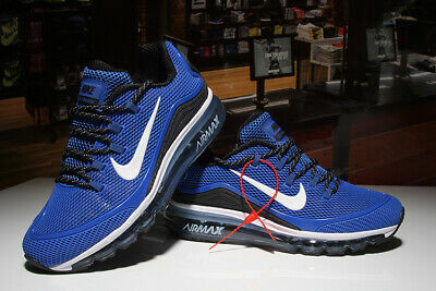 promo code f916b 85eff NIKE AIR MAX 2018 elite Men's Running Trainers Shoes Blue and White