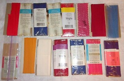 Lot 15 Assorted Packages Seam Binding / Bias Tape Wrights Coates
