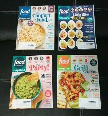 4) FOOD NETWORK Magazine,January/February,March,April,May
