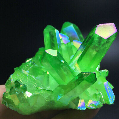 Natural Green Crystal Quartz Citrine Cluster Mineral Specimen Healing Home Decor