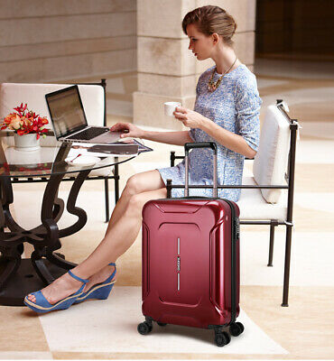"D64 28"" ABS PC Password Lock Portable Case Trolley Travel Bag Suitcase S"