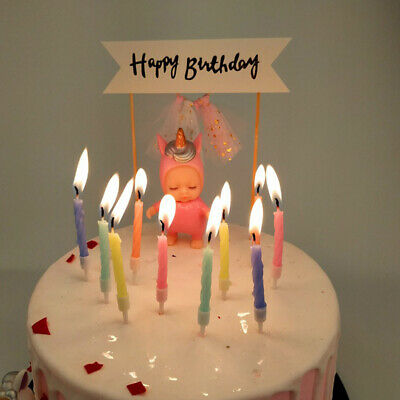Birthday Cake Candle Set Topper Party Decorations Picks Candles