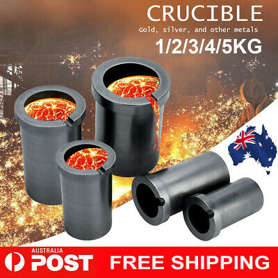 1/2/3/4/5 Kg High-Purity Graphite Foundry Crucible Melting Refining Tool Au