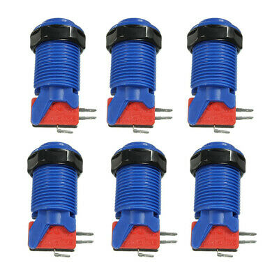 6 pcs/Lot Happ Style Arcade Push Button with Microswitch for MAME JAMMA 6 Colors