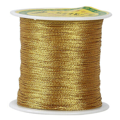 Silver / Gold Color Cord Woven Thread Chinese Knot Beading Jewelry String FW
