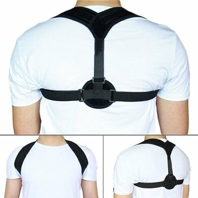 Unisex Posture Corrector Lumbar Lower Back Support Shoulder Pain Relief Brace RZ