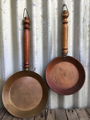 SOHO FOUNDRY Ballarat SOVEREIGN HILL 2x Solid Copper HANGING PANS