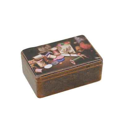 Mini Iron Workbox Modeling Toy for 1:12 OB11 Doll House Decoration