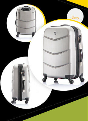 "D36 28"" ABS PC Password Lock Portable Case Trolley Travel Bag Suitcase S"