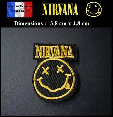 Écusson Brodé Thermocollant NEUF ( Patch Embroidered ) - Nirvana  Rock ( Ref 1 )