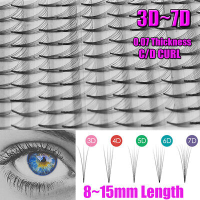 833116a7fe3 SKONHED 12 Lines 3D~7D Russian Premade Volume Fans Eyelashes C/D Curl 0.07