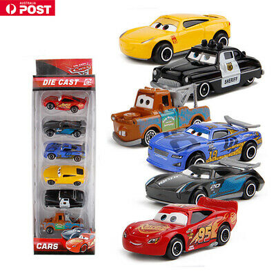 6PCS Set Pixar Cars 3 Lightning McQueen Racer Diecast Car Collection Toys Gift