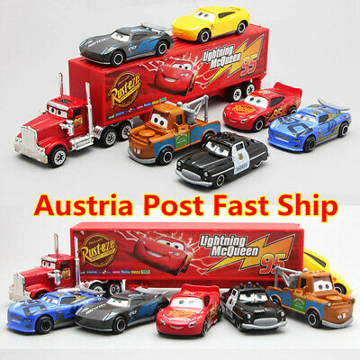 3fd8abcaa14f9 PIXAR CARS SET 3 Mack Truck 6Pcs Mini Alloy Diecast Cars Racers Kids Gift  Toys