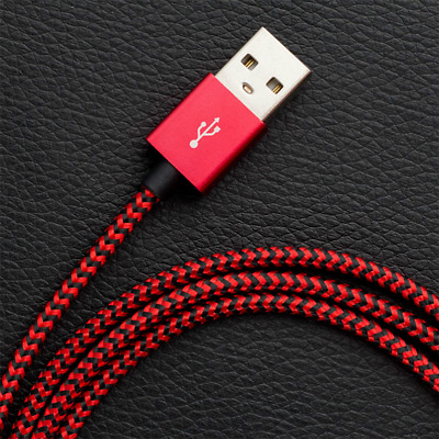 Nylon Braided Data Line fast Charging Dataline Lightning Micro USB Type-C Cable