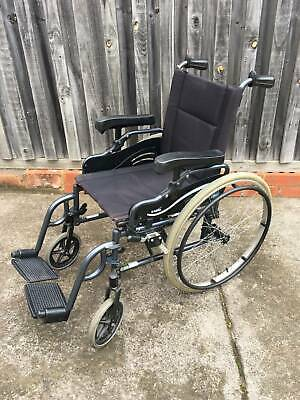 Wheelchair, free shower seat, bed pole and sliding board included