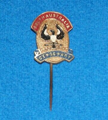 1836 - 1936 South Australia Centenary Stick Pin / Badge marked Schlank Adelaide