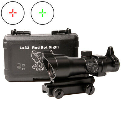 Hunting 1x32 ACOG Rifle Scope Red/Green Mil Dot Sight for Airsoft FULL Scope