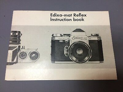 Edixa Mat Reflex Instruction Book Manual English Camera Vintage Photography