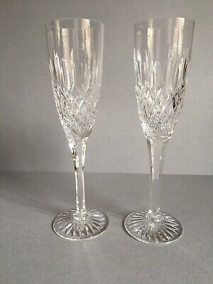 Stuart crystal Shaftesbury pair of champagne glasses