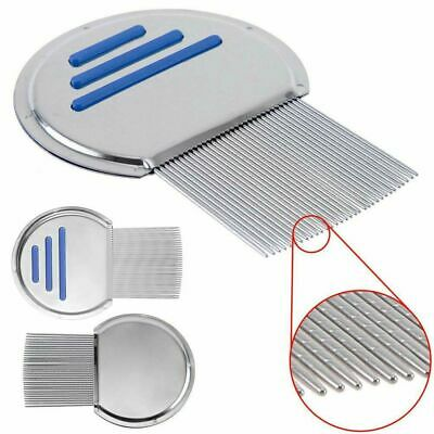 New Nit Free Comb Removes all head lice nits & eggs, Steel Metal Head